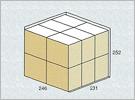 外箱への収納可能な数量を算出
